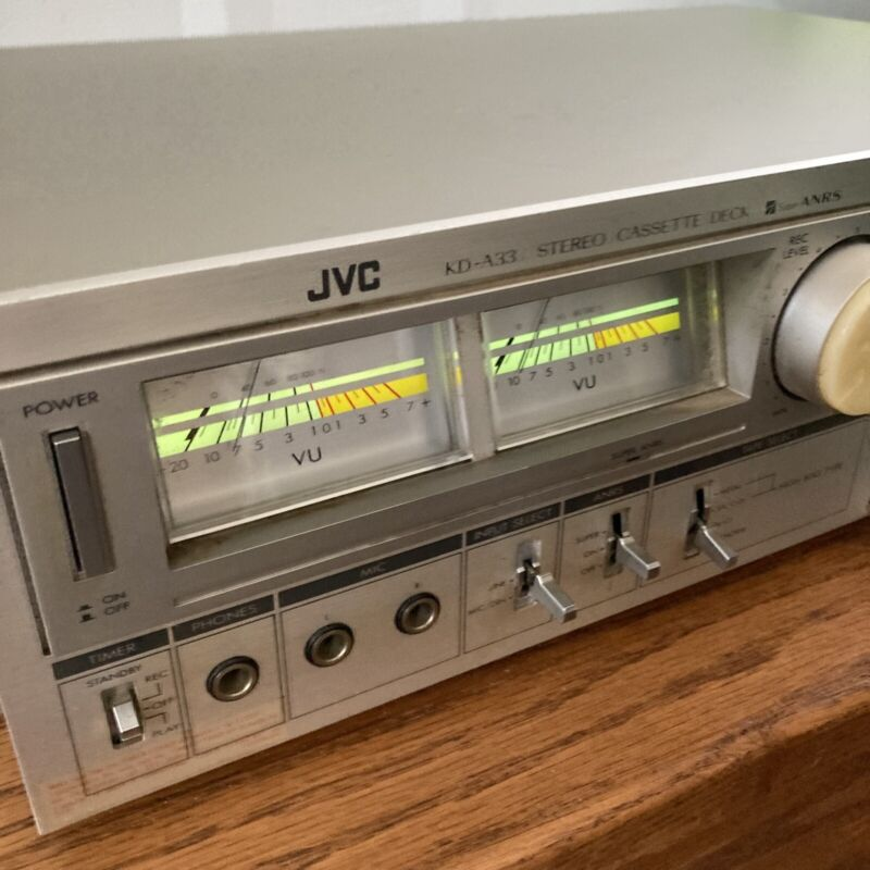 JVC KD-A33 Tape Deck Cassette Player / Recorder Wow! Works - Free shipping