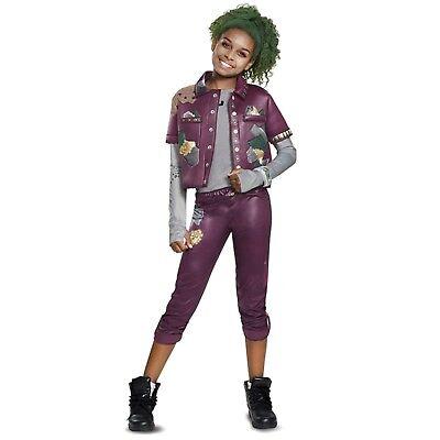 Disney ZOMBIES Eliza Costume Purple Jacket Z Band Halloween Child Girls S M L XL](Girls Zombie)