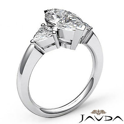 Trillion Cut 3 Stone Marquise Natural Diamond Engagement Ring GIA I SI1 1.55 Ct 1