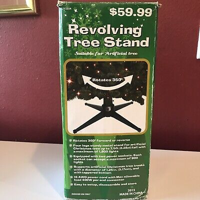 Hobby Lobby Revolving Rotating 360 Artificial Christmas Tree Stand Base Tested
