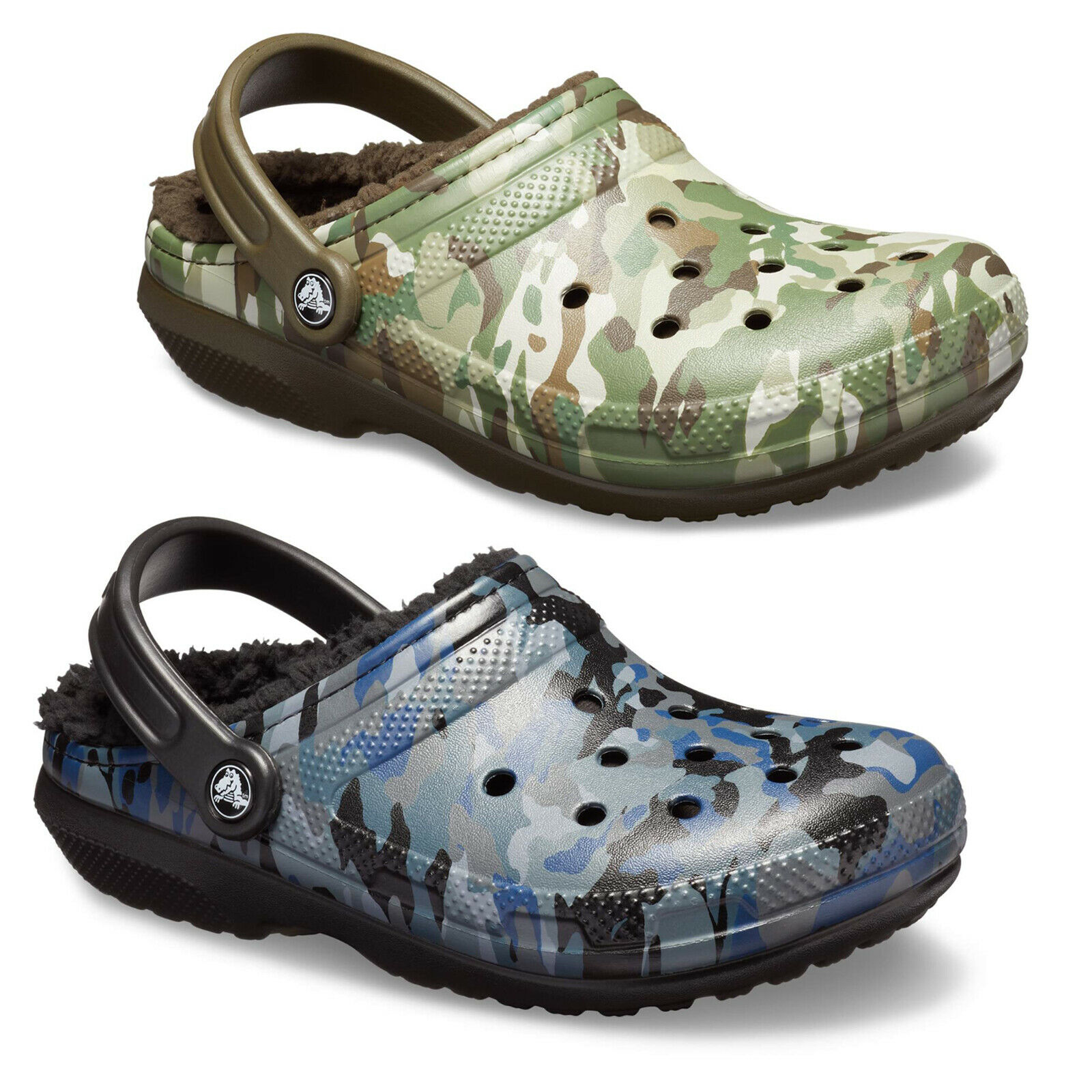 Realtree  CROCS Classic WINTER  Fuzzy Plush LINED vegan Clogs Slippers Shoes