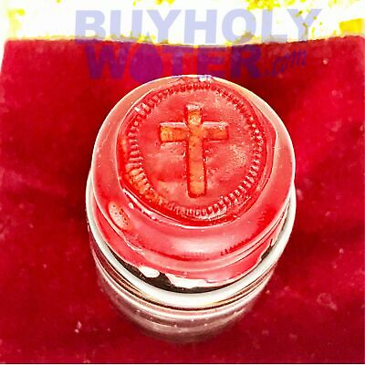 Pure Holy Water Authentic Wax Sealed 55mL Cork Vial Hand Made Limited To 100 - $32.99