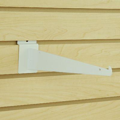 White Slatwall Shelf Knife Brackets With Lip - Lot Of 25 - New - Multiple Sizes