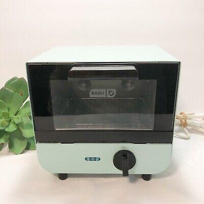 Dash Aqua Mini Toaster Oven Cooker For Bread, Bagels Cookies DMTO100GBAQ04