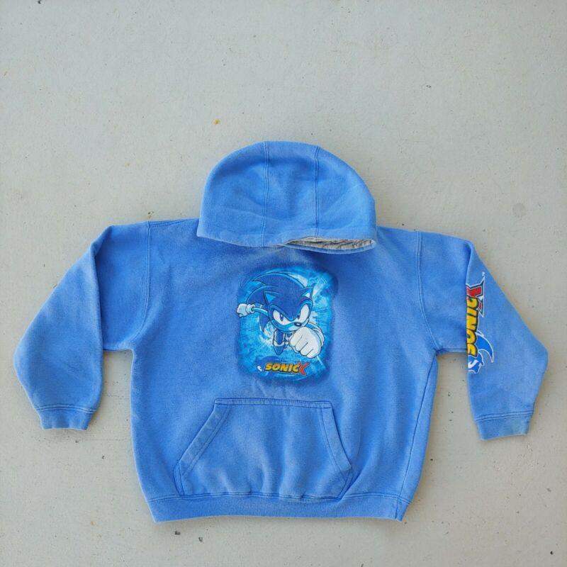 Top Heavy Clothing Sonic X Blue Hoodie Kids Size 4 Hedgehog Sweatshirt