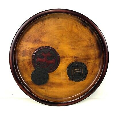 Hand Carved Turned Japanese Wooden Ware Tray 15