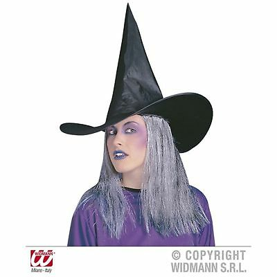 Witch Hat With Hair Headpiece Halloween Broom Fancy Dress Costume Accessory](Halloween Hats With Hair)
