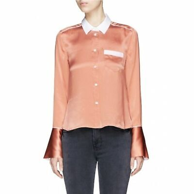 Equipment Huntley Contrast Silk Button Down Blouse size M