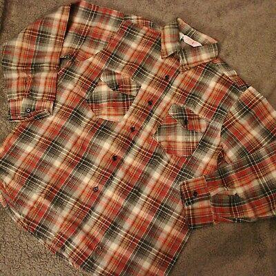 Plaid Flannel Shirt Jim Catfish Hunter Mens Checkered Sz L 16 16 1/2 Gray (Best Mens Flannel Shirts)