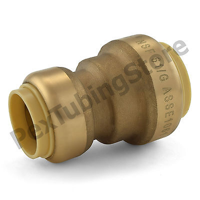 10 1 X 34 Sharkbite Style Push-fit Push To Connect Lf Brass Couplings