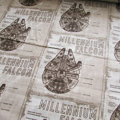 Star Wars 100% cotton Millennium Falcon print fabric