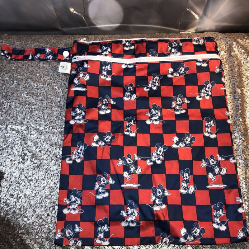 Mickey Mouse Classic Disney Baby Red White Blue Zippered Wet Bag