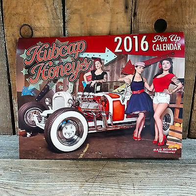 Clearance  2016 Pinup Calendar Rat Hot Rod Custom Vtg Style Cars Old School Bomb