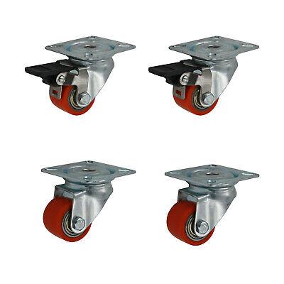 1 x Schwerlast Rückenloch Lenkrolle Ø 125 mm Transportrollen ISO 9001 Germany
