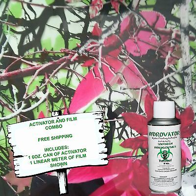 Hydrographic Film Water Transfer Hydro Dip 6oz. Activator Pink Leaf Camo Dip Kit