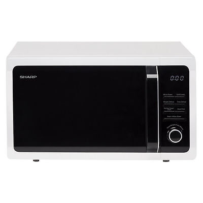 Sharp R764WM Microwave Oven with Grill 900w Power and 25 Litre Capacity