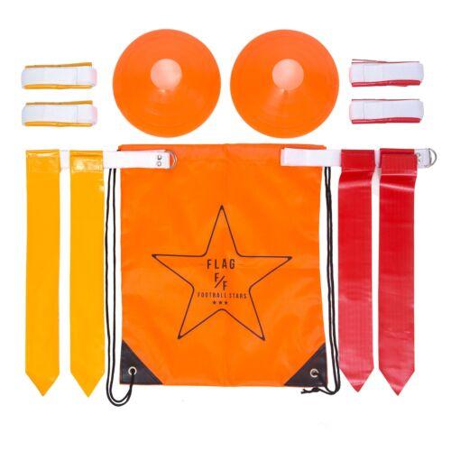 Flag Football Deluxe Gear Set: Belts, Flags, Cones, Carry Bag & Bonus Flag Football Playbook (eBook)