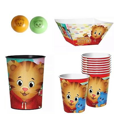 DANIEL TIGER'S NEIGHBORHOOD Birthday Party Supplies Cups Paper Bowl Balls - Party Bowl