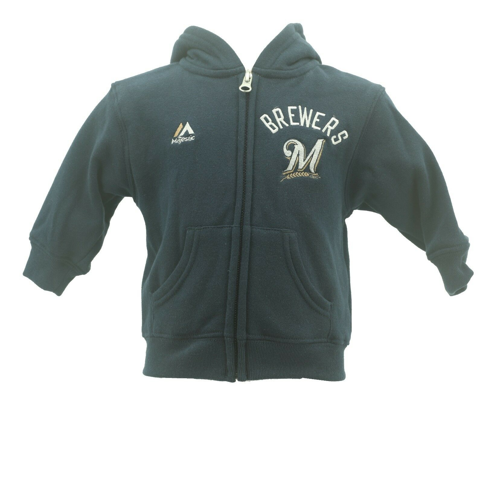 d8160b884 Milwaukee Brewers Baby MLB Infant Toddler Size Zip Up Hooded Sweatshirt New