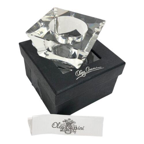 Oleg Cassini Crystal Votive Tealight Candle Holder in Box New Unused