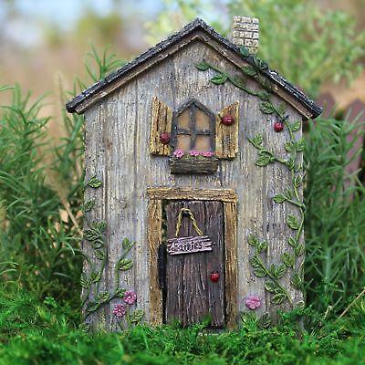 Miniature Ladybug Fairy Door hinged  WS 1312 Fairy Garden Do
