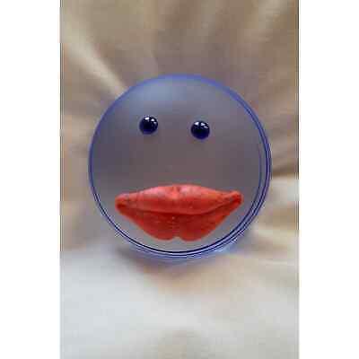 Borowski- Kiss/Lips Art Glass Paperweight