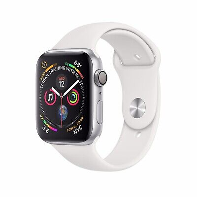 Apple Watch Series 4 40 mm Silver Aluminum Case with White Sport Band (GPS) -...