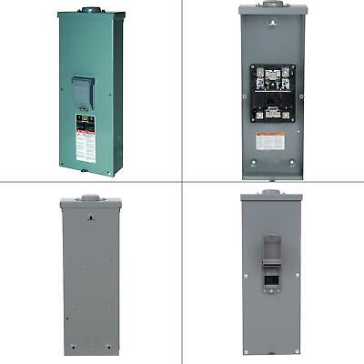 Qo 200 Amp 2-pole Outdoor Circuit Breaker Enclosure With Qom2200vh Breaker Box