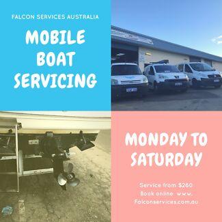 Mobile boat service Mandurah Rockingham Perth Clarkson