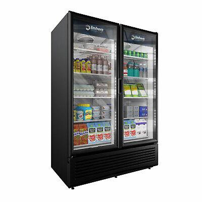 Imbera 43 Cft Commercial Refrigerator Double Glass Door Display Vr43