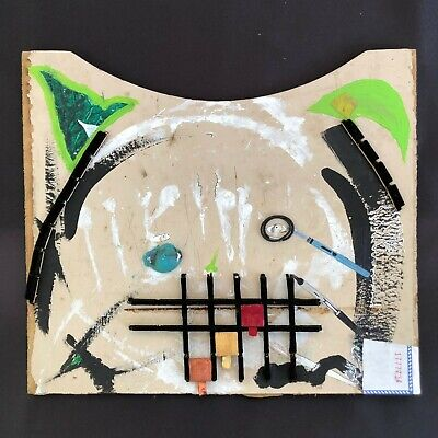 BAD CAT Abstract Kitty Collage Interchangeable Art Painting by Steven Tannenbaum