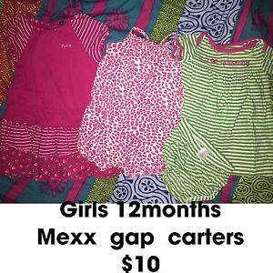 Girls 12 months summer outfits $10