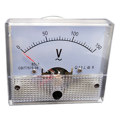 Us Stock Analog Voltmeter Panel Pointer Volt Voltage Meter Gauge 85l1 Ac 0-150v