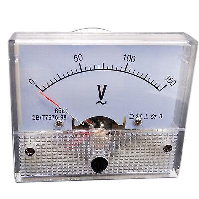 Us Stock Analog Voltmeter Panel Pointer Volt Voltage Meter Gauge 85l1 Ac 0-150v