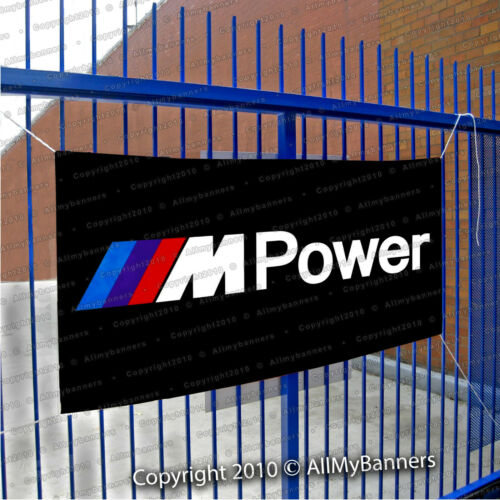 BMW Banner ///M Power Logo Ft Flag Car Show Garage Wall Coupe Roadster bnd