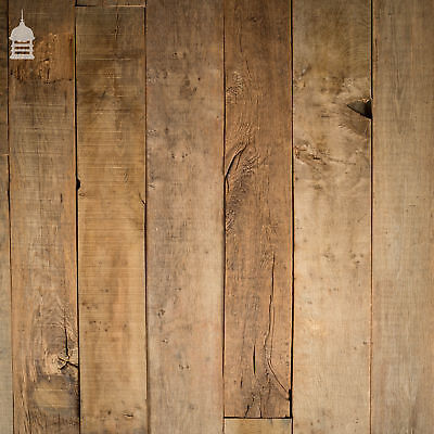 Rustic Seasoned Oak Floorboards Wall Cladding with a Brushed Finish for sale  Norwich
