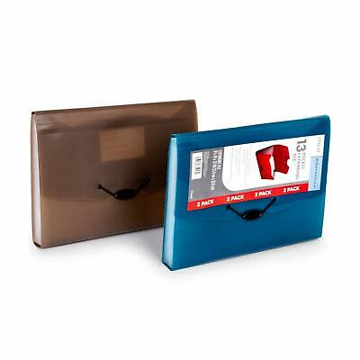 Mead 2 Pack 13 Pocket Expanding Accordion Folders Letter Size Portable