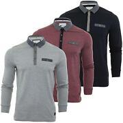 Mens Long Sleeve Polo Shirt XL