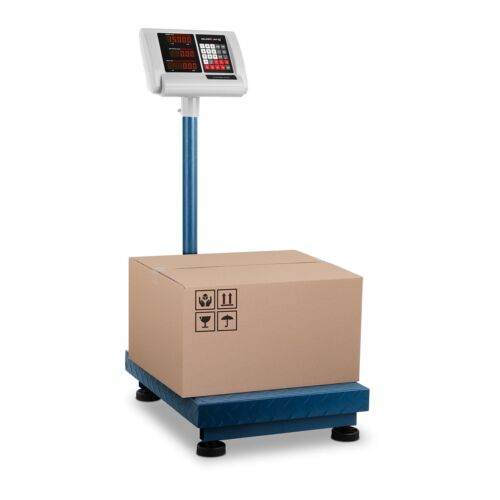 Plattformwaage Paketwaage Bodenwaage Industriewaage klappbar LED 150kg/10g Akku
