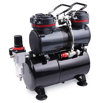 AWM Airbrush Kompressor AMC-22B Ölfrei, 1/4PS, Kolben-Compressor 3L Lufttank