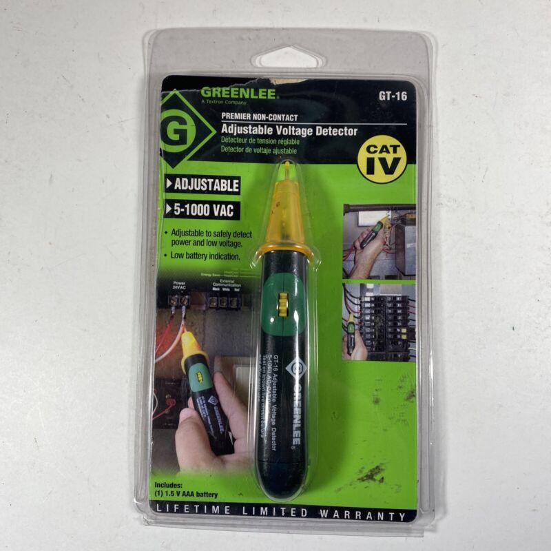Greenlee Gt-16 Adjustable Voltage Detector, 5 To 1000V Ac, 5 In Length,