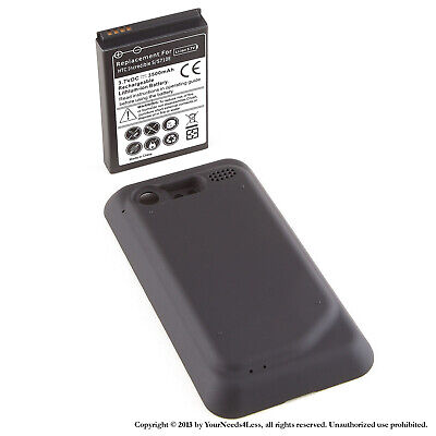 3500mAh Extended Battery for HTC Incredible 2 S S710E Black Cover 3500 Mah Extend Battery