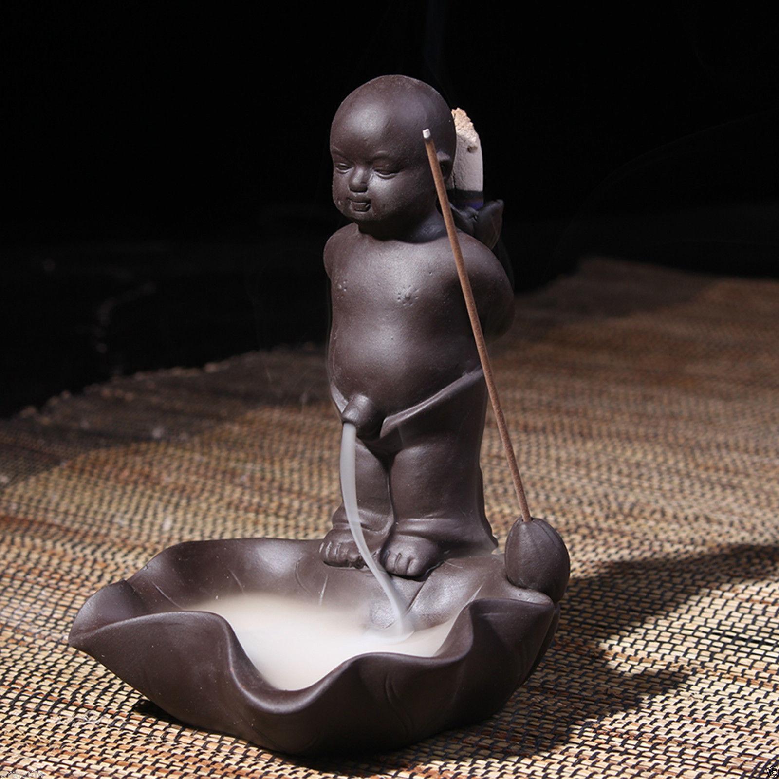 Ceramic Boy Backflow Incense Burner Incense Stick Holder Clay Incense Burner Ebay