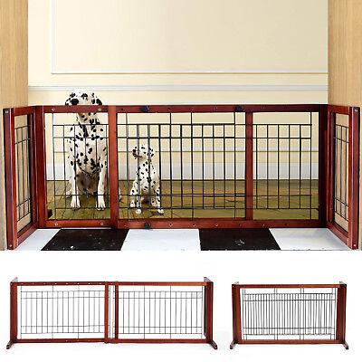 Dog Gate Indoor Metal Pet Cat Door Fence Free Standing Baby Barrier Safety Pen