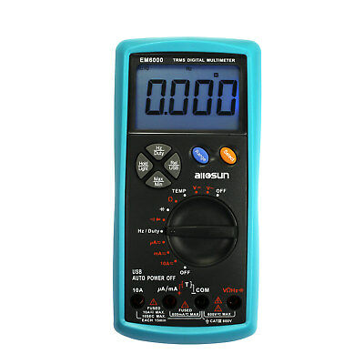 Digital Handheld Multimeter True-rms Dmm Muti Tester Ac Dc Volt Ohm Amp Temp