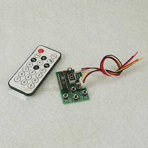 Ir stepper motor speed forward reverse remote controller for Stepper motor velocity control