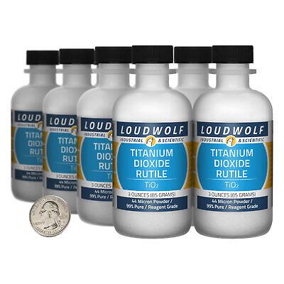 Titanium Dioxide Rutile 1.5 Lbs 8 Bottles 99 Reagent Grade