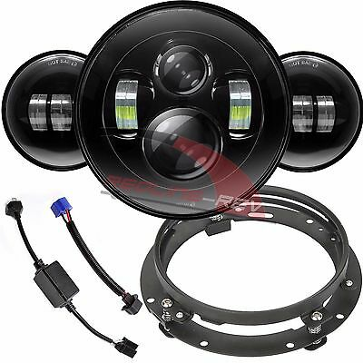 "7"" Daymaker LED Headlight 4.5"" Spot Fog Passing Lights Harley Touring Motorcycle"