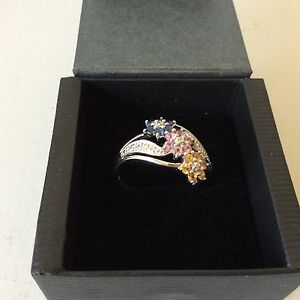 925 Sterling Silver Gemstone Ring. Approx Size U. New. Large Size Hazelbrook Blue Mountains Preview