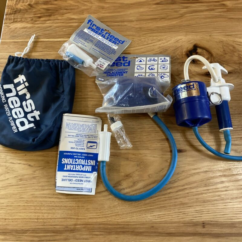 First Need water purification system with extra filter + bag